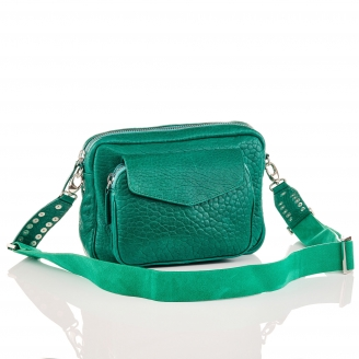 Green Lamb Leather Big Charly Bag Chain