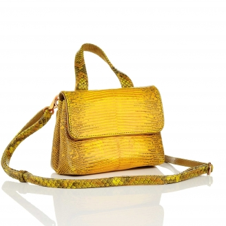 Yellow Lizard Shoulder Bag Baby Mimi