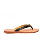 Black Python Sandals Gisele