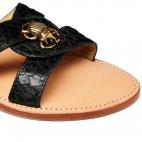 Black Python Nina Sandals