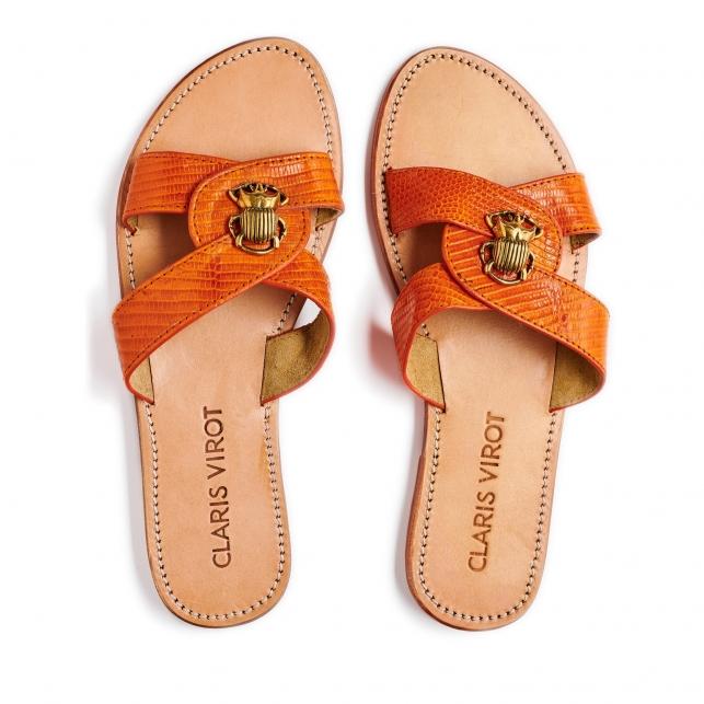 Orange Lizard Nina Sandals