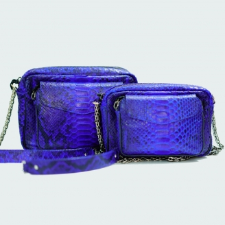 Python Gipsy Blue Big Charly Bag x Veronika Loubry