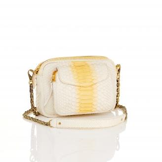 Cream Python Bag Charly