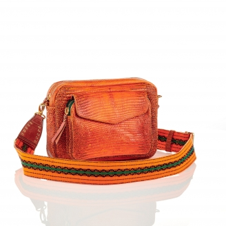 Orange Lizard Bag Big Charly with Strap