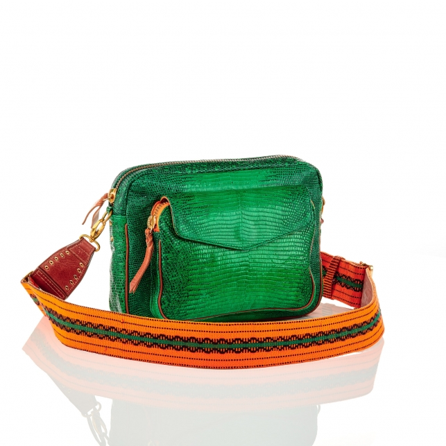 Apple Lizard Bag Big Charly with Strap