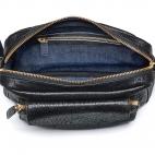 Black Lamb Leather Big Charly Bag Gold Strap