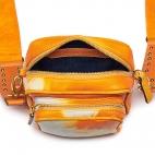 Orange T&D Lamb Skin Mini Charly Bag