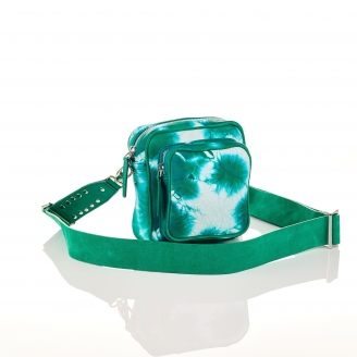 Green T&D Lamb Skin Mini Charly Bag