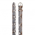 Stone Grey Python Belt Phoenix Silver Buckle