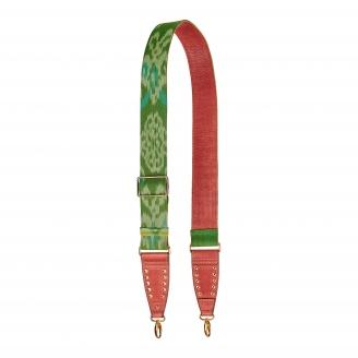 Endek Green Printed Strap with Hooks