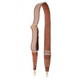 Woven Moka Leather Strap