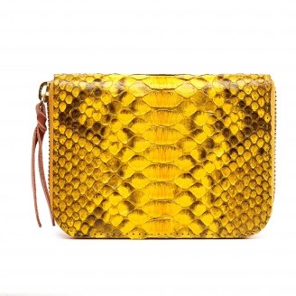 Yellow Python Mini Bob Wallet