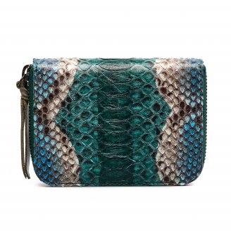 Ocean Painted Python Mini Bob Wallet
