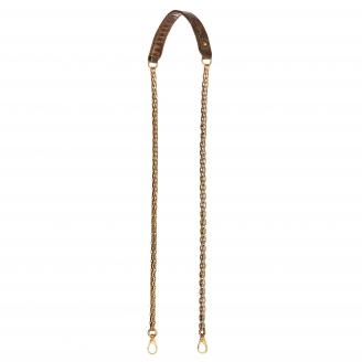 Kaki Python Golden Chain with Hooks