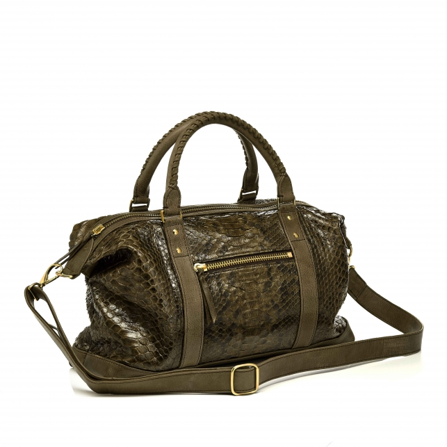 Python Dark Kaki Travel Bag Roger S