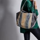 Grege Python Shoulder Bag Yvette
