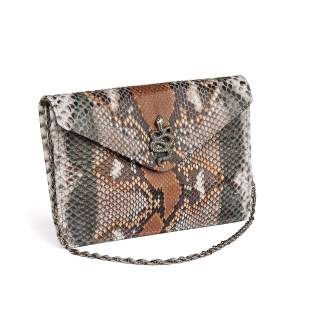 Stone Grey Python Card Holder Big Alex
