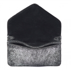Python Card Holder Alex Silver Leather