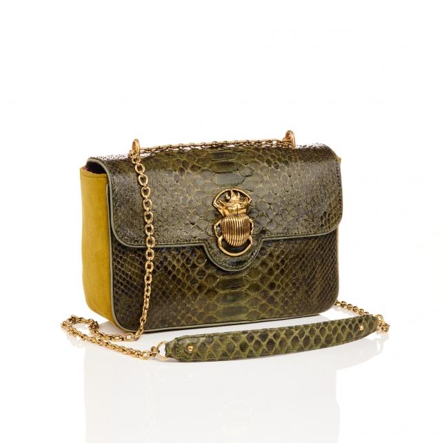 Kaki Python Bag Big Ava Beetle