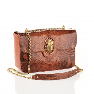 Moka Python Bag Big Ava Beetle