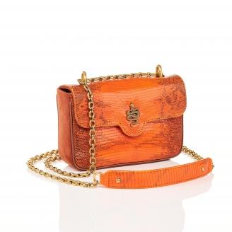 Orange Fire Python Bag Ava Snake