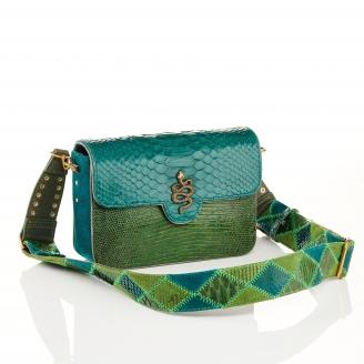 Green Empire Lizard Python Bag Ava Medium
