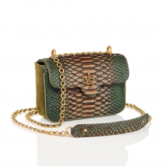 Bronze Python Bag Ava Snake