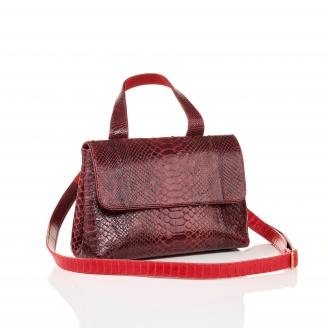 Burgundy Python Shoulder Bag Little Mimi