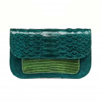 Green Blue Python Bianca Card Holder