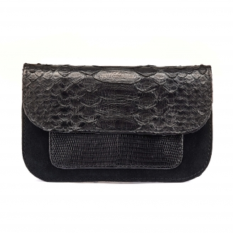 Black Python Bianca Card Holder