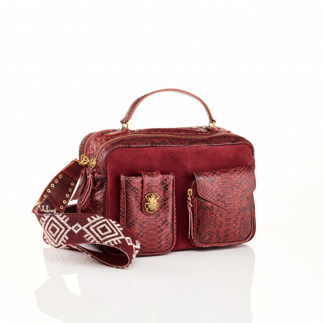 Burgundy Python Bag Cesar