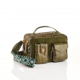 Kaki Python Bag Cesar