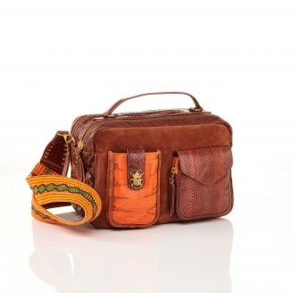 Moka Orange Python Bag Cesar
