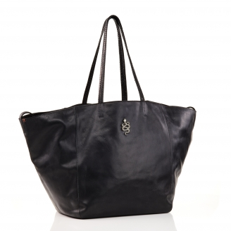 Black Gold Leather Tote Felix