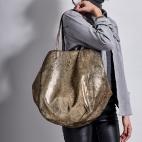 Golden Leather Tote Felix