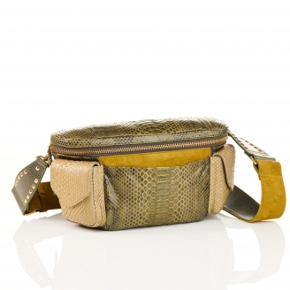Khaki Python Funny Bag Jules
