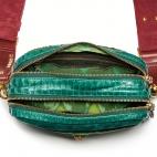 Green blue green empire lizard Python Bag Lily