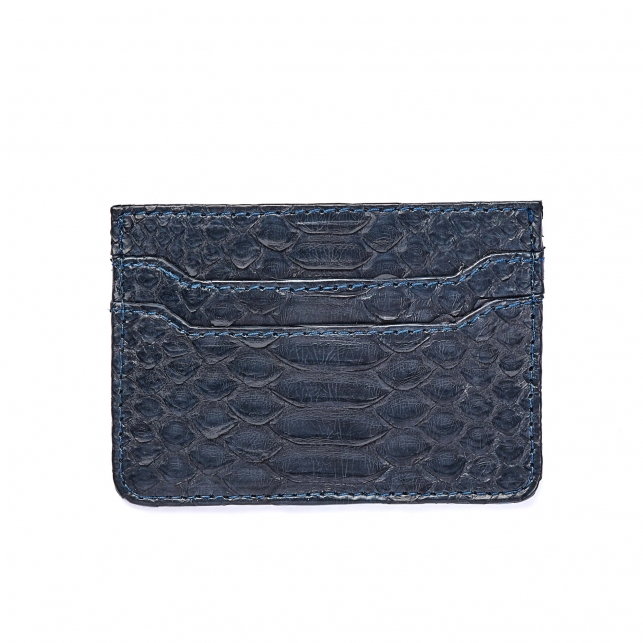 Navy Python Card Holder Lolo