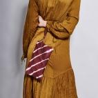Burgundy T&D Leather Clutch Lou