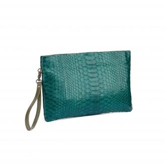 Green Blue Python Clutch Lou