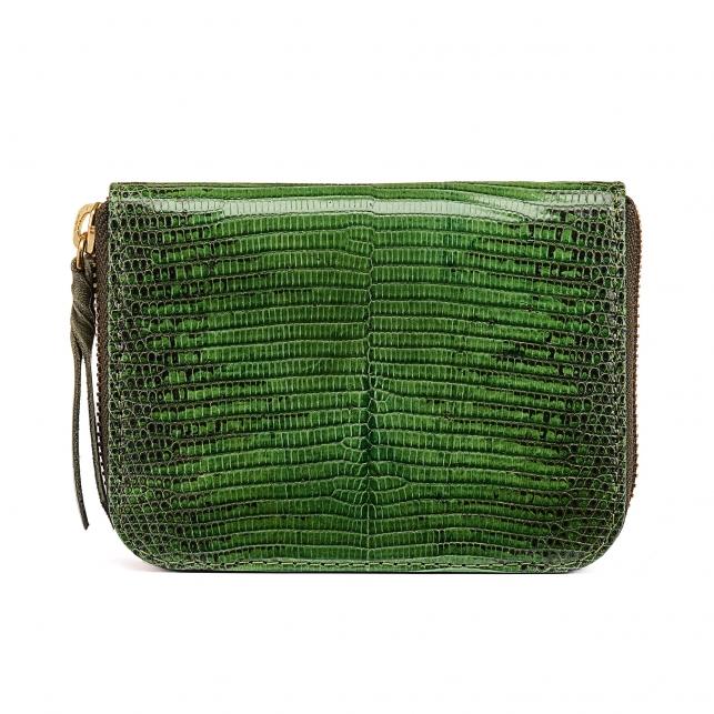Green Empire Lizard Wallet Mini Bob