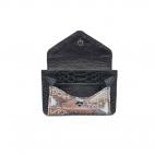 Black Mix Python Card Holder Tess
