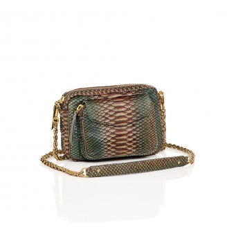 Bronze Python Charly Bag