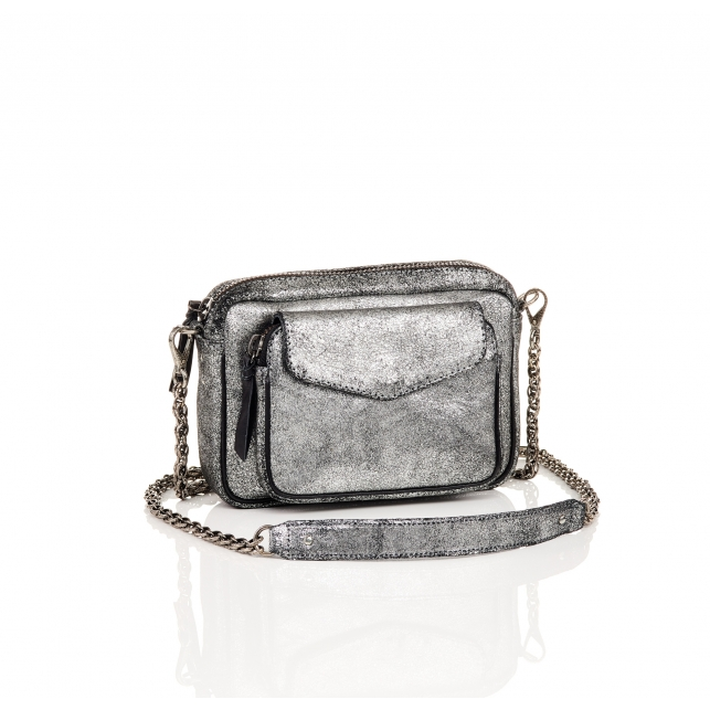Silver Leather Charly Bag