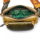 Kaki Mustard Python Bag Charly With Shoulder Strap