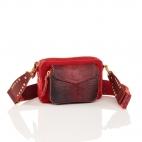 Red Burgundy Python Bag Charly With Shoulder Strap