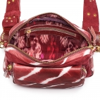 Burgundy T&D Leather Bag Big Charly With Shoulder Strap