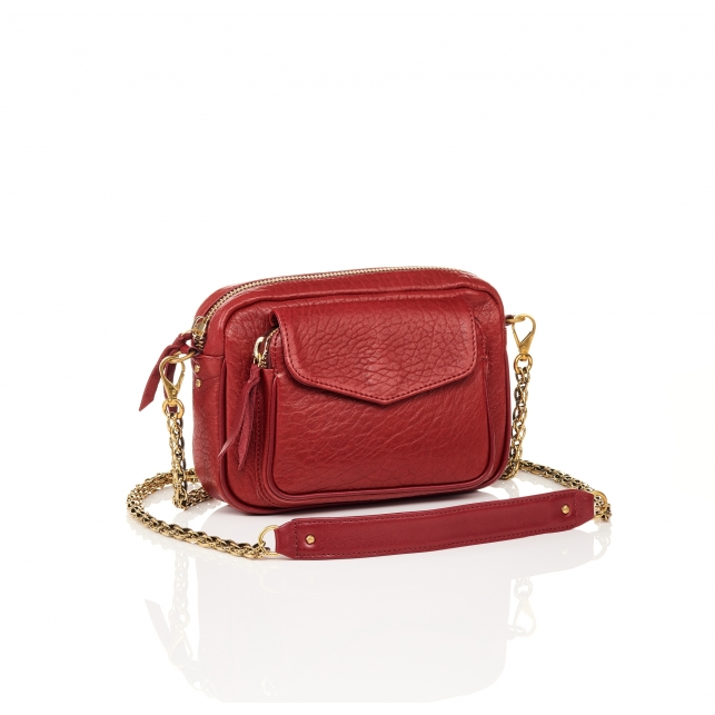 Red Bubble Leather Charly Bag
