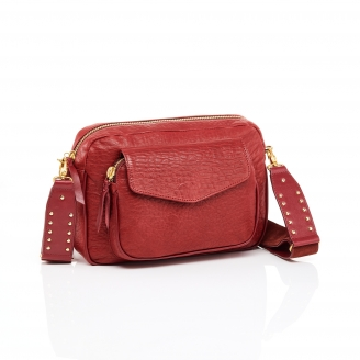 Red Bubble Leather Big Charly Bag Chain