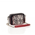 Black Zebre Leather Charly Bag